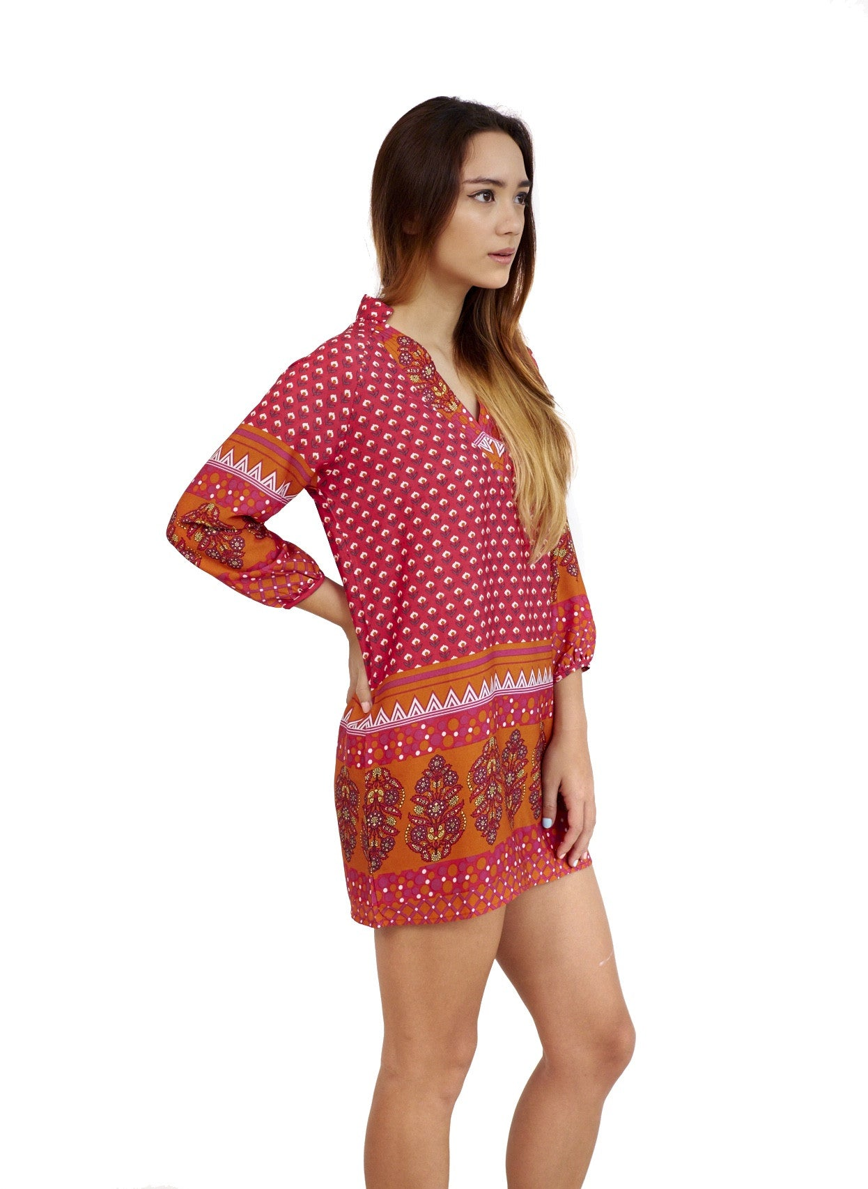Arden Fuchsia | Tunic Top
