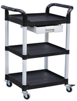 JBSB-3K-1, 3 tiers Smaller plastic utility carts, ABS drawer, 265 lbs load capacity L28
