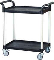 2 Shelf Utility Cart Service Car 275kg load Black (AU Stock)