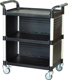 JB-3C3|3 tiers Larger Cabinet Service carts for multi-purpose uses|Black color - JaboeEuip