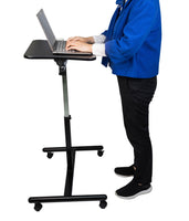Mobile Laptop Desk Cart Table Height-Adjustable from 29.13