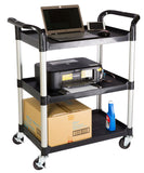 3 tiers Shelving Office Rolling Utility cart, Service cart, Rolling cart, 330 lbs load - JaboeEuip 3 tiers Shelving Office Rolling Utility cart Service cart Rolling cart