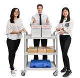 JBG-300︱3 shelves Service cart for Hospital and Hotel - JaboeEuip