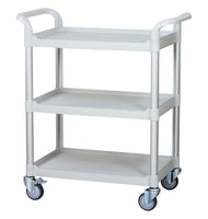 3 Shelf Utility Cart Service Car 275kg load White (UK Stock)