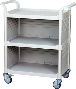JBG-3C3, 3 Shelf Cabinet Medical Hospital carts, off-white - JaboeEuip 3 tiers Shelving Office Rolling Utility cart Service cart Rolling cart