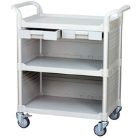 3 Tier Med Hospital cart Dental cart with Cabinet & Drawers (UK Stock)