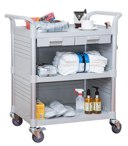 JBG-3KC3 ︱Larger 3 Shelf Hospital cart with cabinet & drawers - JaboeEuip