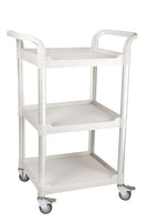 JBGS-300, Smaller 3 tier Utility Cart, off-white - JaboeEuip 3 tiers Shelving Office Rolling Utility cart Service cart Rolling cart
