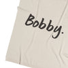 Oatmeal & Ink Grey Personalised Name Blanket