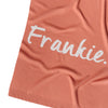 Rust & Snow Marl Personalised Name Blanket