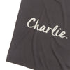 Ink Grey & Pearl Grey Personalised Name Blanket