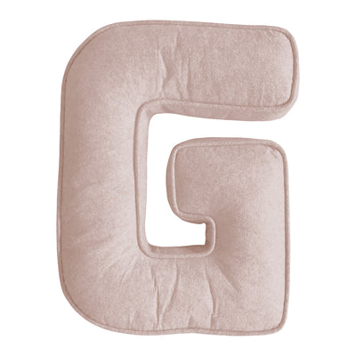 LETTER CUSHION BLUSH PINK