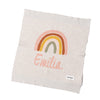 Mini Doll RAINBOW Personalised Name Blanket- ENGLISH ROSE