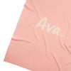 Apricot Pink & Coconut Personalised Name Blanket