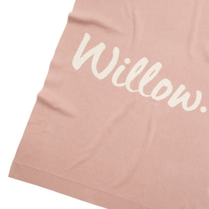 Load image into Gallery viewer, Misty Rose & Coconut Personalised Name Blanket
