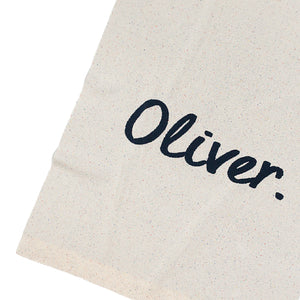 Load image into Gallery viewer, Nep Cream Confetti & Navy Personalised Name Blanket