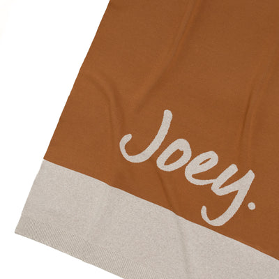 Panel Brown Sugar & Stone Marl Personalised Name Blanket