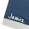 Enamel Blue Panel Personalised Blanket