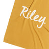 GOLDIE Mustard & Ivory Name Blanket