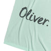 Mint and Cadet Blue Personalised Name Blanket