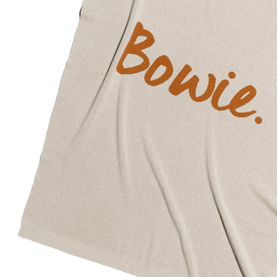 Stone Marle and Bombay Brown Personalised Name Blanket