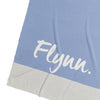Cornflour Blue Panel Personalised Blanket