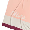 Cotton Cashmere Panel Pink, Raspberry & Grey Personalised Name Blanket