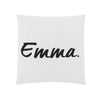 Personalised Name Cushion Ivory & Black