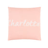 Personalised Pastel Pink & Ivory Name Cushion