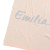 Rose Pink & Grey Marl Personalised Name Blanket