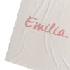 Snow Marl & Rose Bloom Personalised Name Blanket