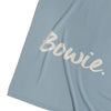 Dusty Blue & Magnolia Merino Wool Personalised Name Blanket