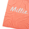 Camelia Apricot & Pearl Grey Marl Personalised Name Blanket