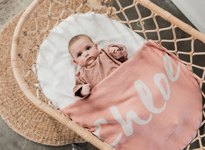 Load image into Gallery viewer, English Rose & Coconut Personalised Name Blanket