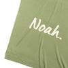 Fern Green & Coconut Personalised Name Blanket