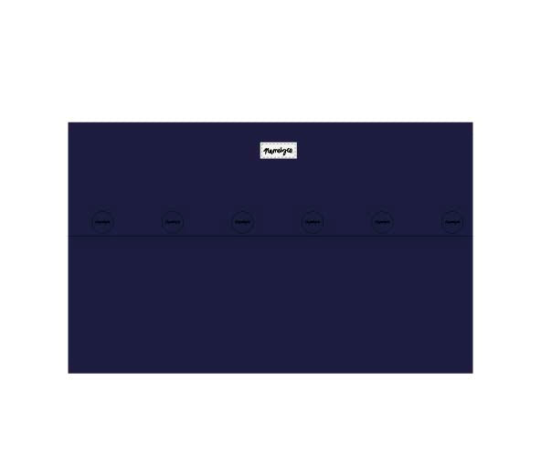 Load image into Gallery viewer, Indigo Navy & Ivory Name Pillowcase