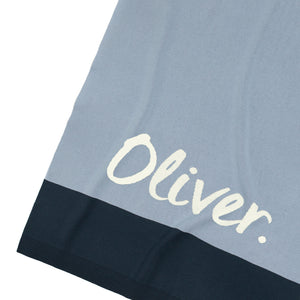 Load image into Gallery viewer, Panel Kentucky Blue, Navy & Ivory Personalised Name Blanket