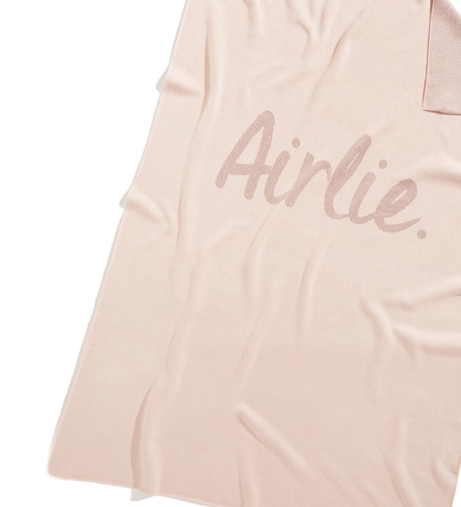 Load image into Gallery viewer, Rose Pink & Lurex Rose Gold Personalised Name Blanket