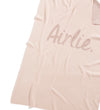 Rose Pink & Lurex Rose Gold Personalised Name Blanket
