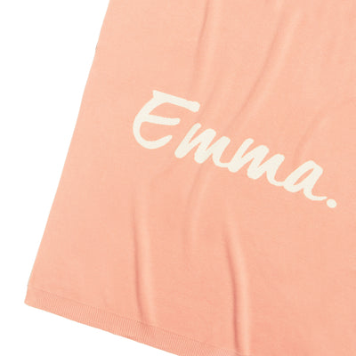 English Rose Blossum & Coconut Personalised Name Blanket