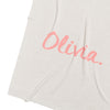 Pearl Grey Marle & Lily Pink Personalised Name Blanket