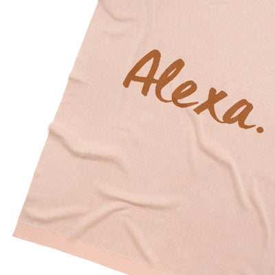 Rose Pink & Apple Cinnamon Personalised Name Blanket