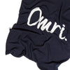 Indigo Navy & Ivory Personalised Name Blanket