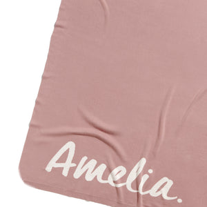 Load image into Gallery viewer, Rose Bloom & Ivory Single Bed Personalised Name Blanket
