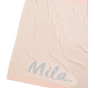 Rose Pink & Grey Marl Single Bed Personalised Name Blanket
