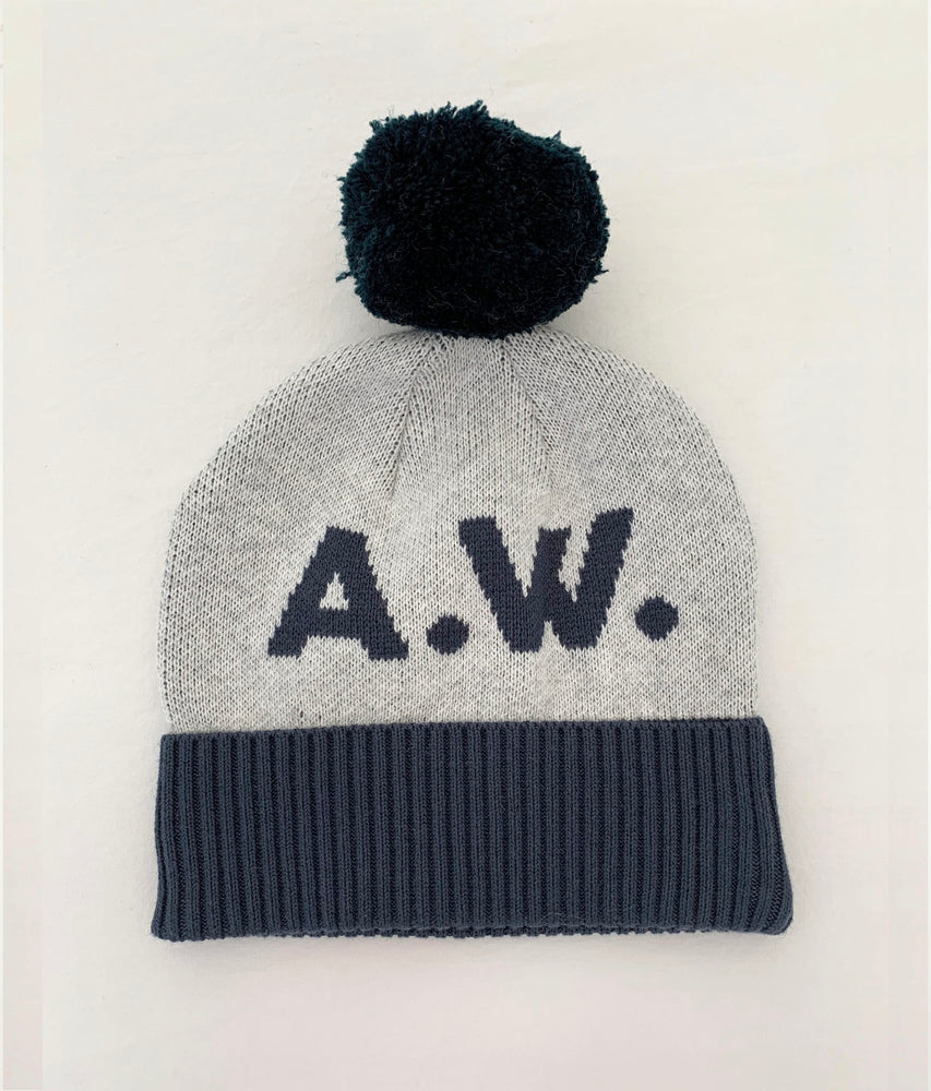 Load image into Gallery viewer, BEANIE: Snow Marle & Enamel Blue
