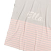 Pastel Pink, Pearl Grey & Ivory Stripe Personalised Name Blanket