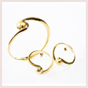 Golden pearl bangle for $60.00 at Jewelry and More