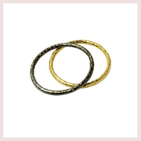 Black Tone Hammered Round Bangle-Jewelry and More