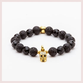 BLACK AND GOLD SKULL for $12.00 at Jewelry and More
